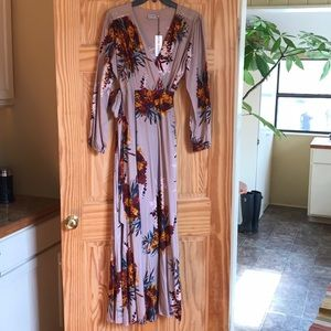 The Odells Wrap Maxi Dress NWT